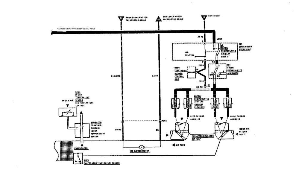 medium resolution of  mercedes benz 560sec wiring diagram hvac controls part 2