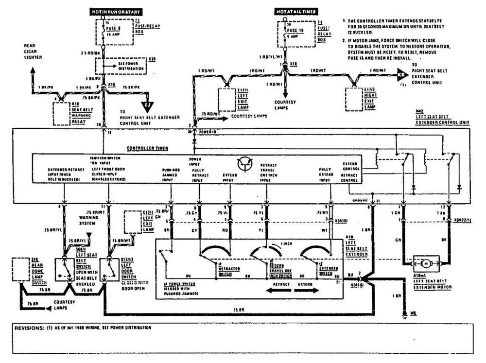 medium resolution of mercedes benz 560sec wiring diagram seat belt part 1
