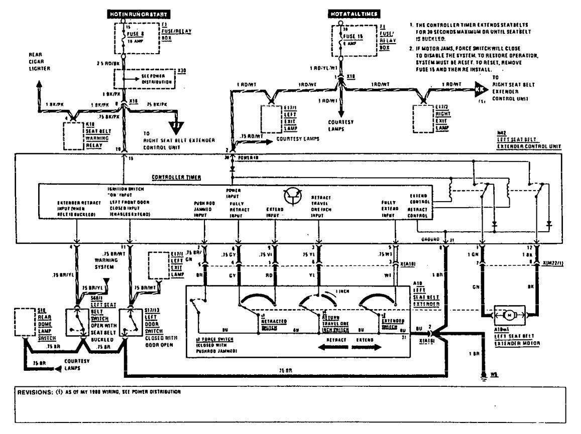 hight resolution of mercedes benz 560sec wiring diagram seat belt part 1