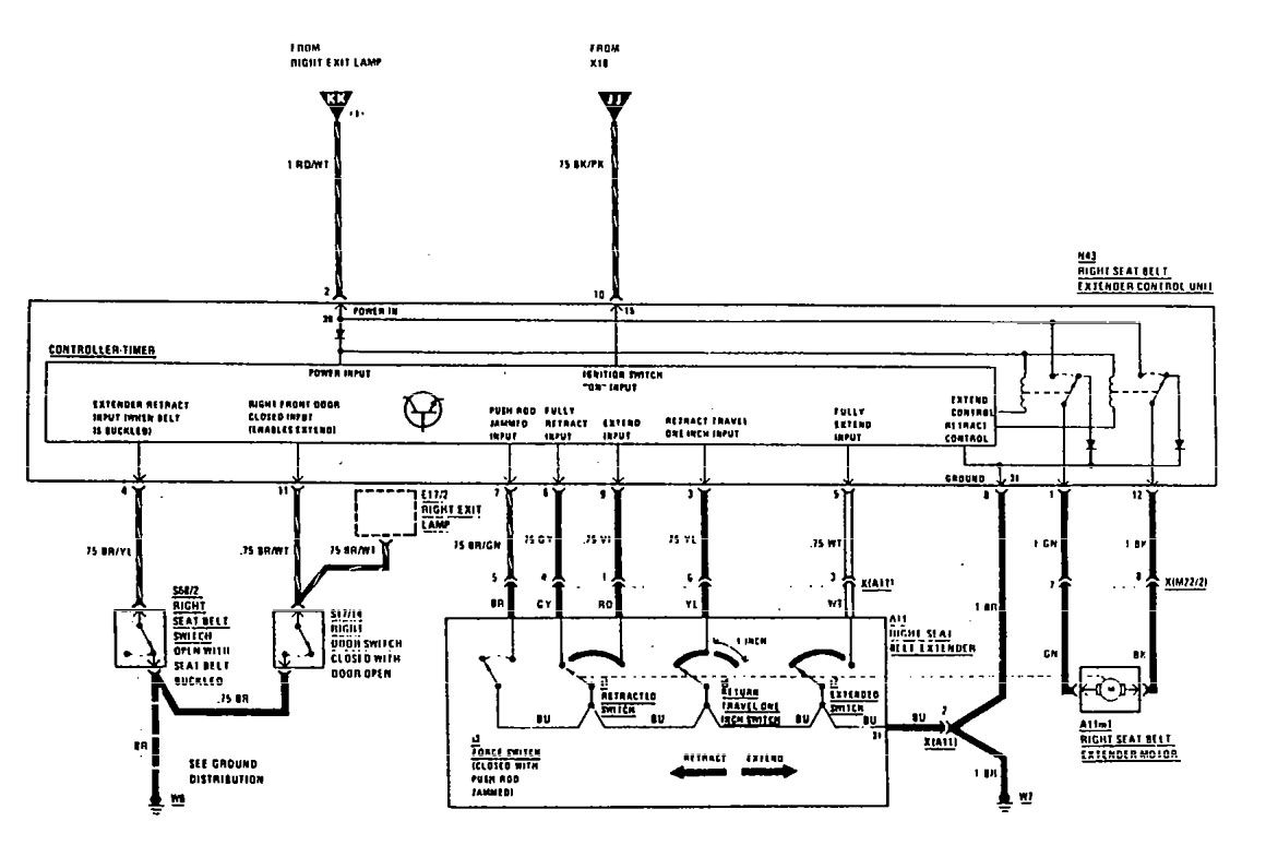 hight resolution of  mercedes benz 560sec wiring diagram seat belt part 2
