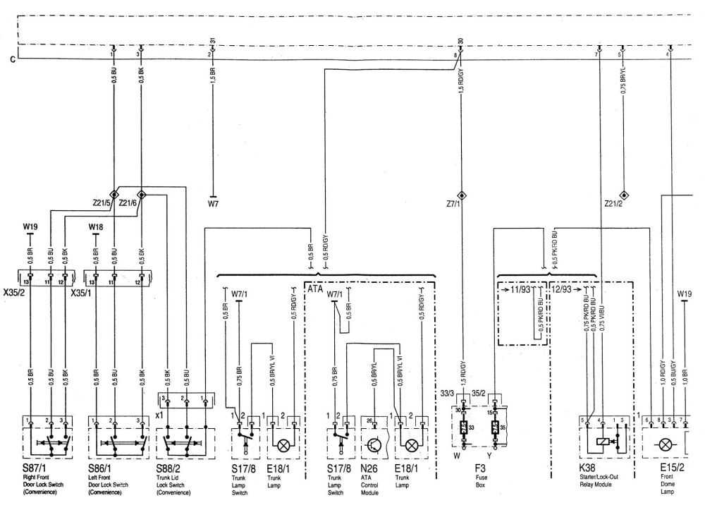 medium resolution of  chevy venture power door lock wiring diagram on ford ranger door lock diagram