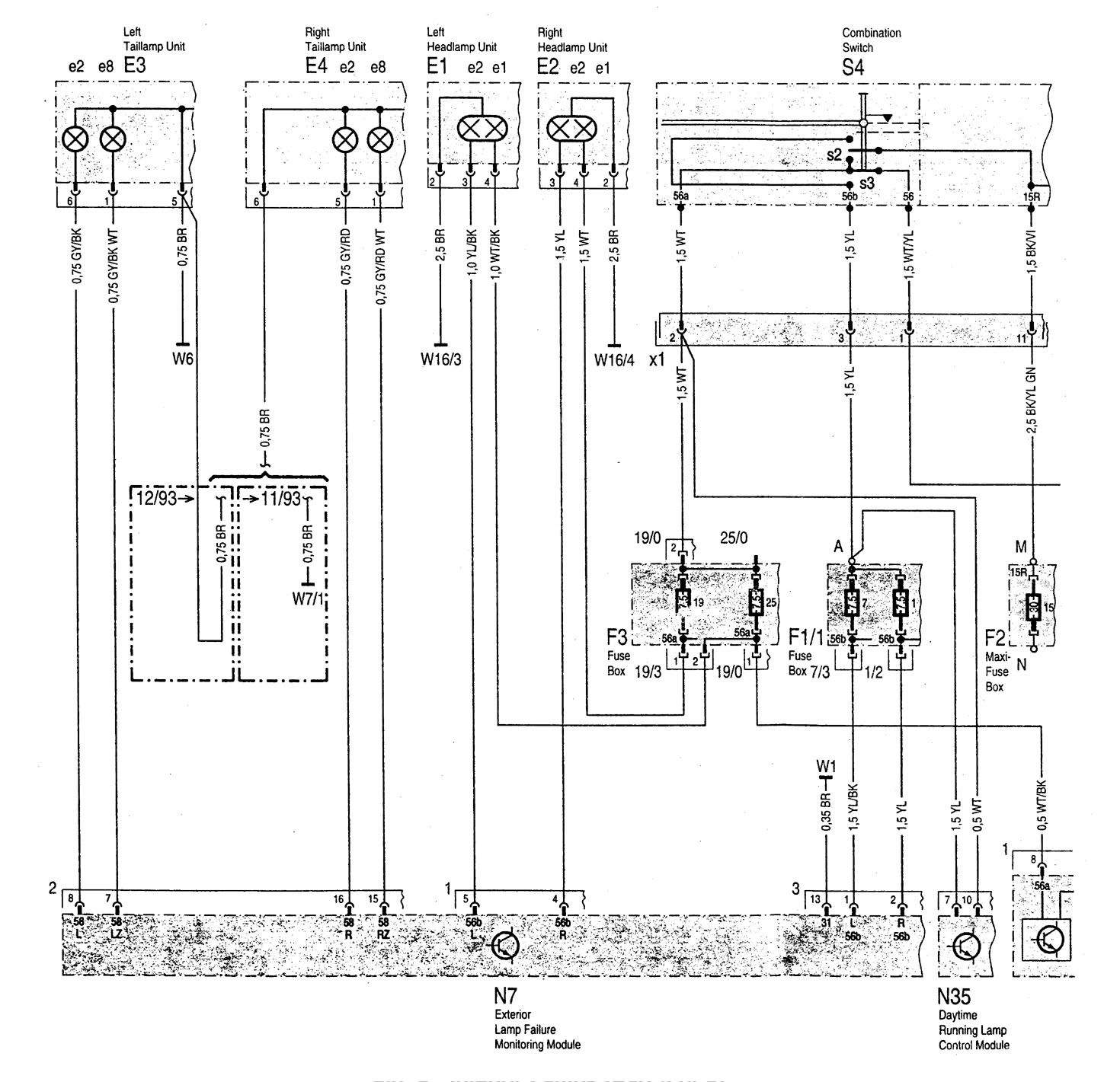 1995 mercedes sl500 wiring diagram 2007 kenworth radio benz c280 1994 1997 diagrams