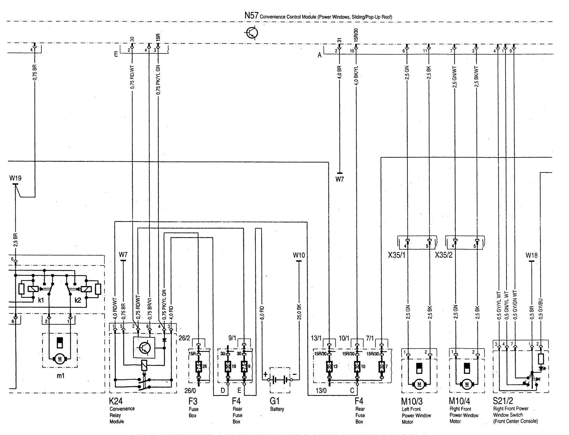 hight resolution of  mercedes benz c220 wiring diagram power windows part 2