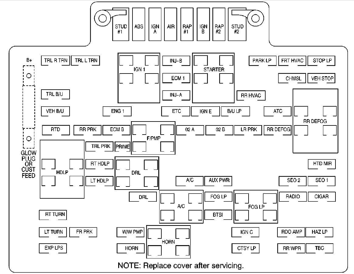 hight resolution of gmc denali 2001 fuse box diagram carknowledge