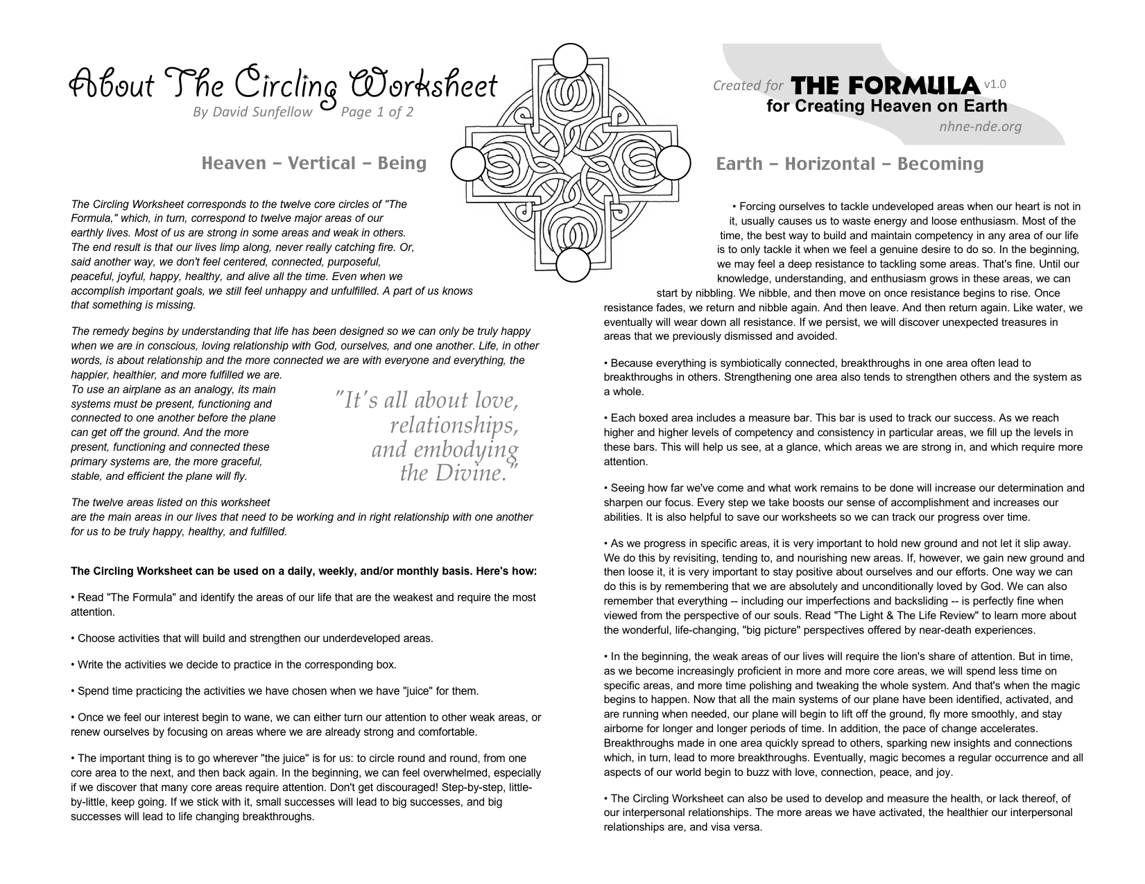 The Formula Worksheet Side A Click To Read At Full Scale