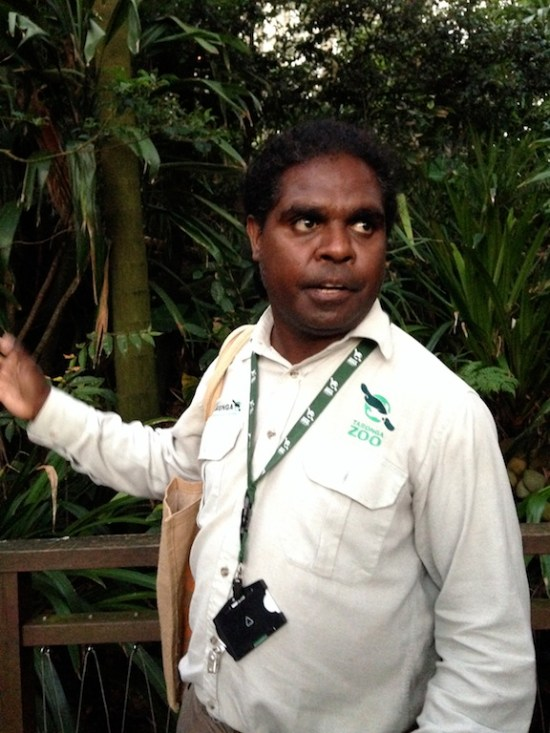 Indigenous zoo guide, Leon Burchill.