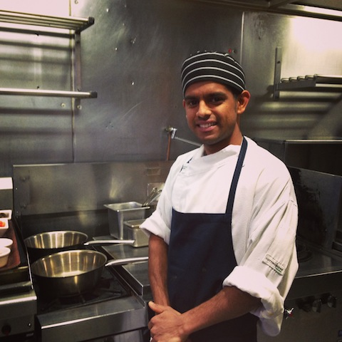 Enjoy a cooking demo at Abhi's Indian Restaurant.