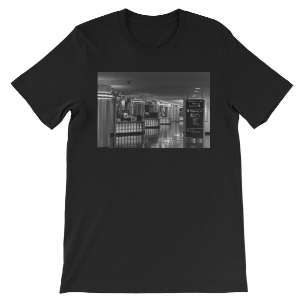Ronald Reagan National Airport, Terminal A in Washington, DC - Carla Durham - Carla in the City - short sleeve unisex t-shirt, black
