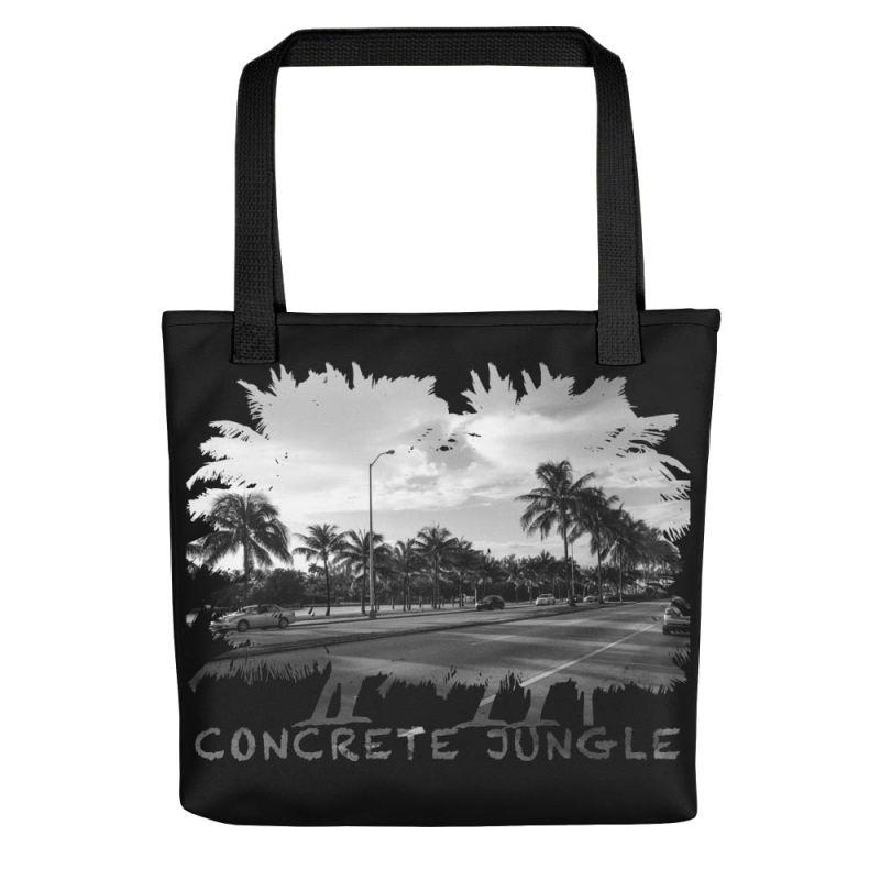 Concrete Jungle - Miami Beach, Florida - Carla Durham, travel photographer - Carla in the City - Carla Durham - black tote bag