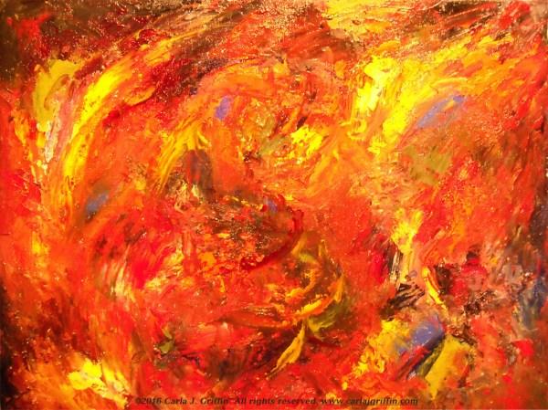 Orange Abstract Art Paintings