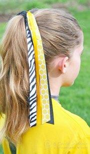 diy softball hair bows carla