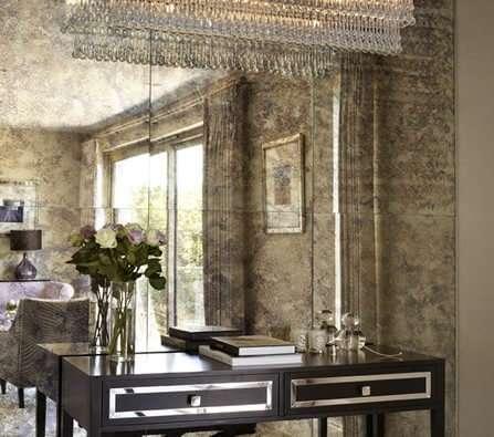 Distressed Bathroom Mirror