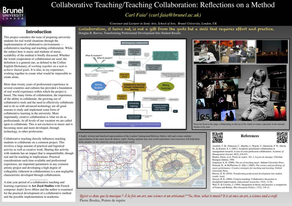 POSTER CARL_FAIA- Teaching Sonic Arts: Learning Collaboration