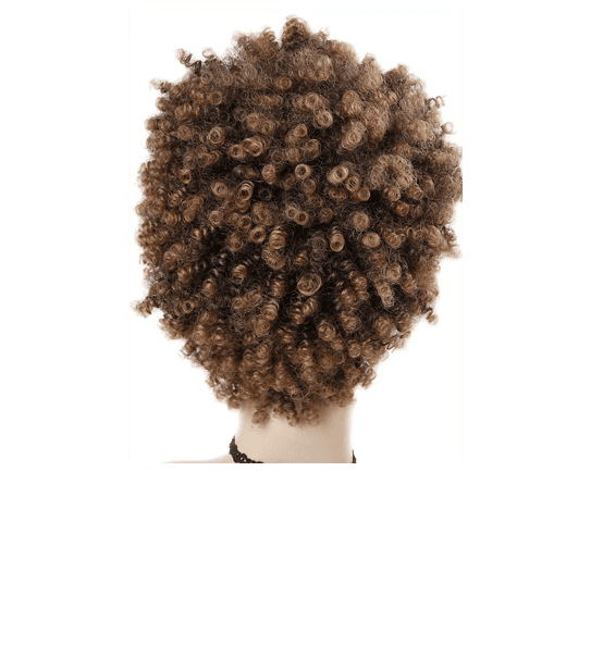Short Kinky Curly Fro Wig Back