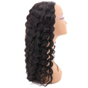 Brazilian Deep Wave U-Part Wig (side)