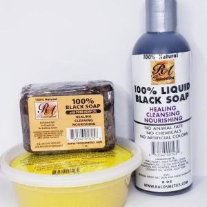 African Shea Butter & Black Soap Combo