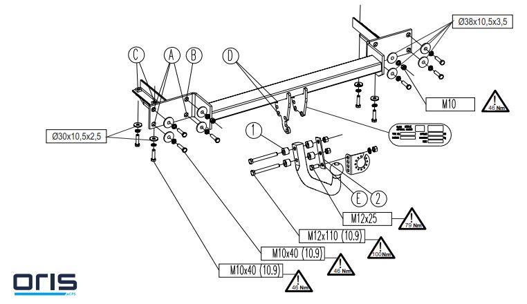 Carlig remorcare Opel Meriva B 5 usi