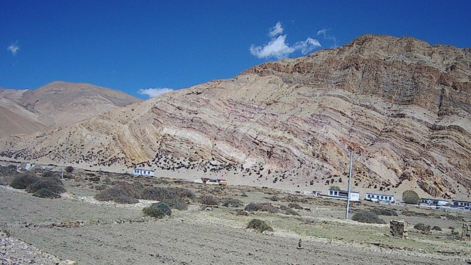 Interesting geologic layering.