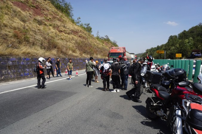 Road block gathering