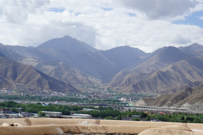 Lhasa is surrounded by mountains and the views from the palace is spectacular.