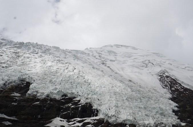 Close to the glacier.