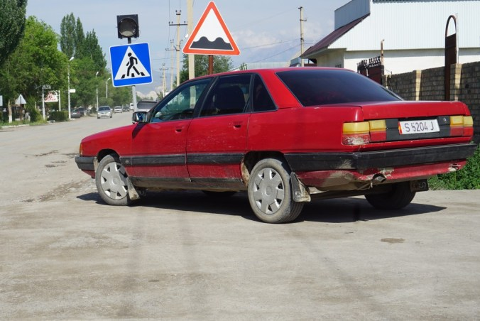 Remember the 80's Audi 100? I think they're all in Kirgistan!