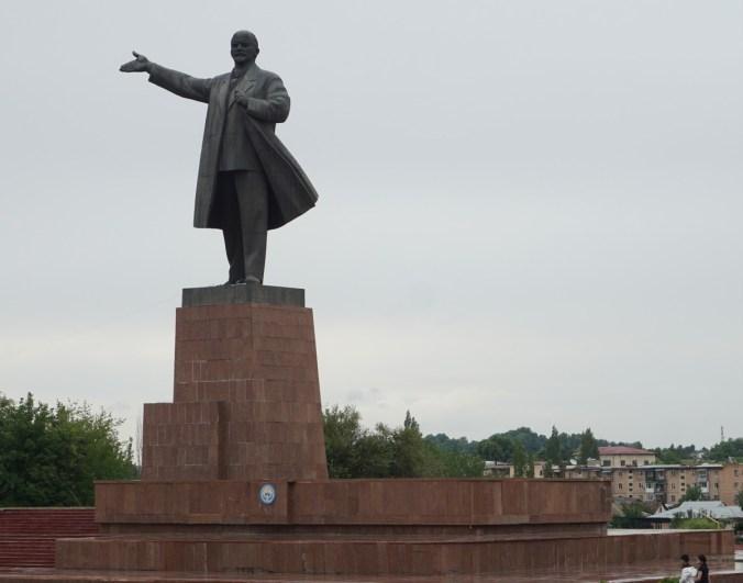Statue of Lenin (?).