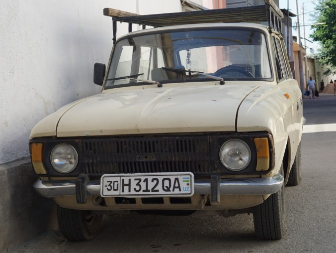 Very old Lada. Lots of old cars on the road.