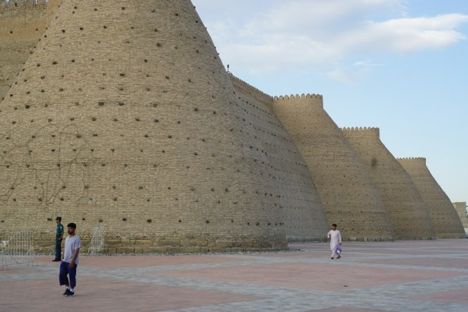 Wall of the Ark in Bukhara.