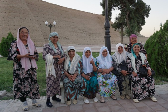Bukhara ladies just happened to be lining up for a photo.