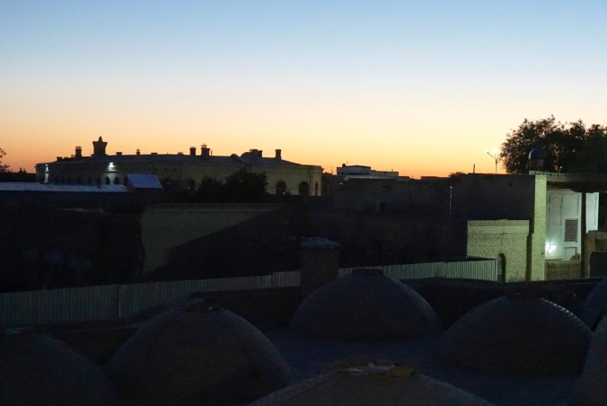 Sunset in Bukhara.