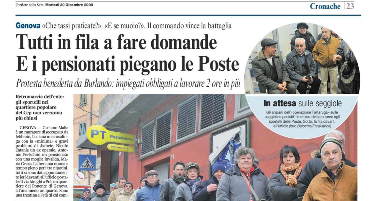 """Poste Italiane chiude gli sportelli? Il Cep, nel 2008, vinse così la sua """"battaglia""""…"""
