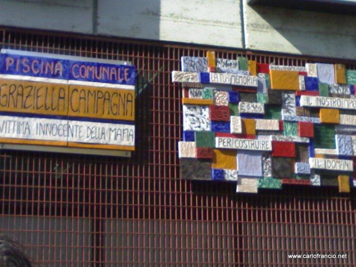Targa Graziella Campagna - piscina comunale