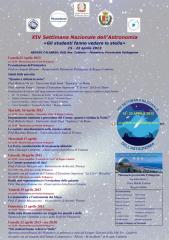 1-Locandina XIV Settimana Nazionale dell'Astronomia RC