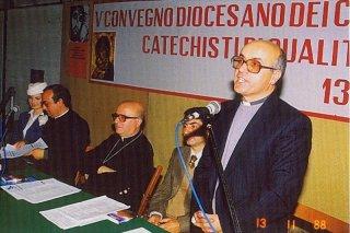 Vescovo Ignazio Cannavò - Mons Pietro Aliquò- 5°_Convegno_Catechisti