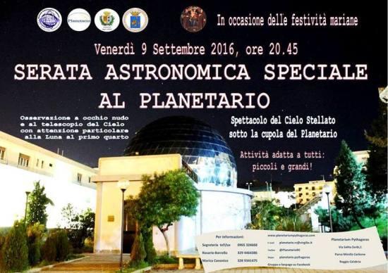 09.09 serata astronomica speciale al Planetario