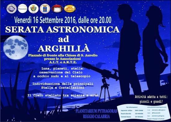 16.09 serata astronomica  ad Arghillà