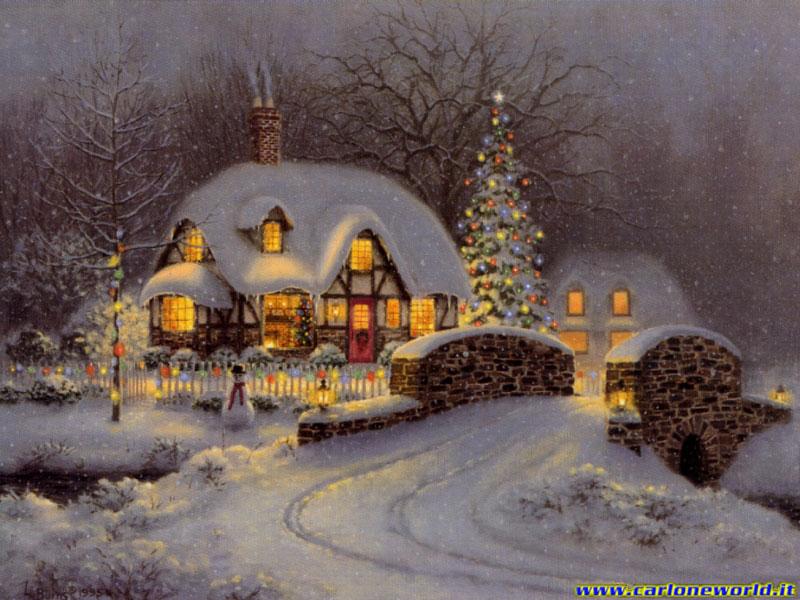 Immagine Natale paesaggio natalizio