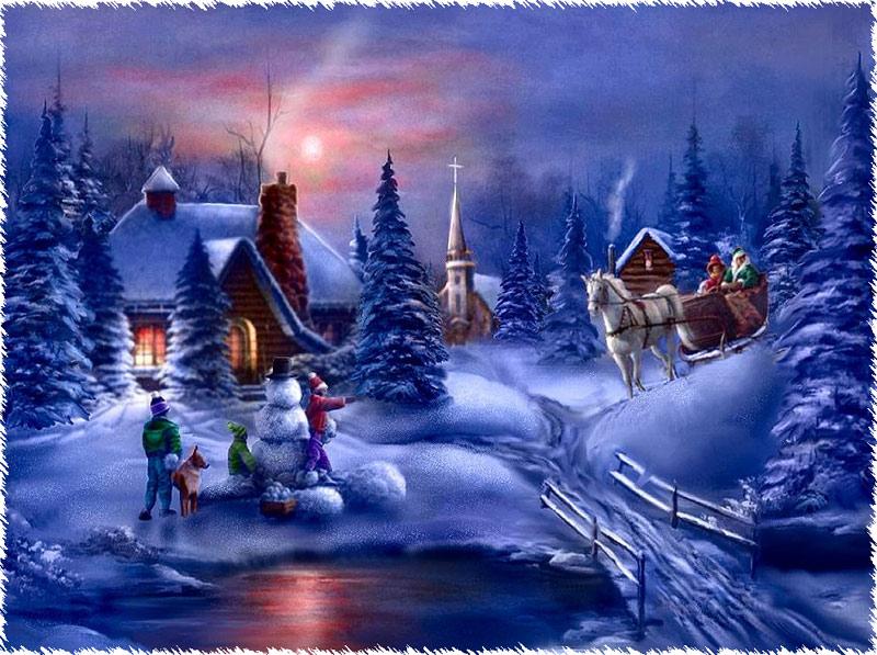 Immagine di Natale paesaggio natalizio