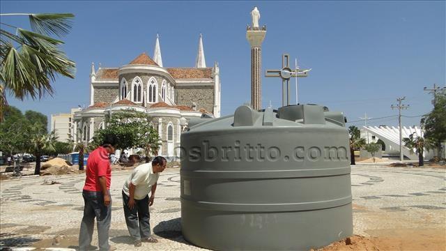 betão e cisterna