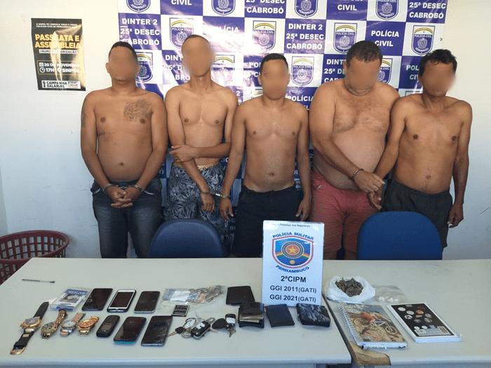 Image result for Cinco homens são presos por tráfico de drogas em Cabrobó