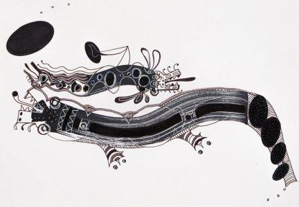 S/T. Tinta, marcador y corrector sobre papel. 20,4 cm. x 30 cm. 2013
