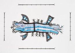 Tinta, marcador, corrector y papel barrilete sobre papel. 30 cm. x 42 cm. 2014