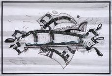 S/T. Tinta, marcador y corrector sobre papel. 78 cm. x 109 cm. 2012