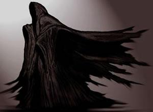 Rappresentazione di un Volador: los Voladores possono avere diverse forme, più o meno grandi e sono simili a ombre deformi fluttuanti per aria.