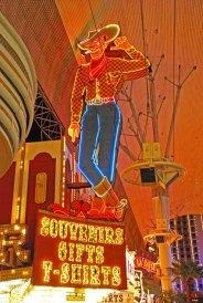 El famoso cowboy de Fremont St.