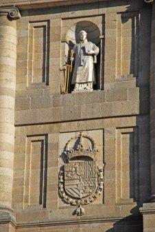San Lorenzo Patrono el Monasterio y Blasón de Felipe II