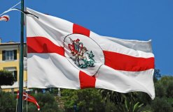 Bandera de Génova y San Jorge