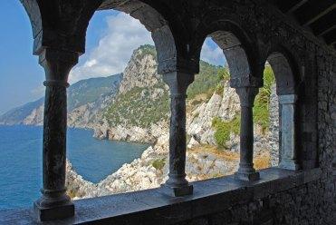 Mar de Liguria desde el atrio de la Iglesia de Porto Venere