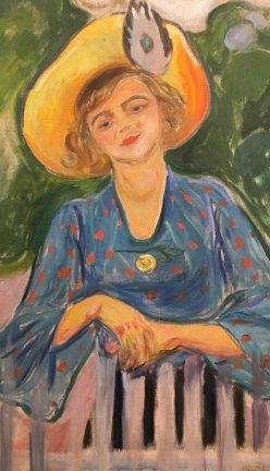 Edvard Munch. Mujer en la Valla